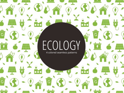 Ecology Vector Seamless Free Pattern