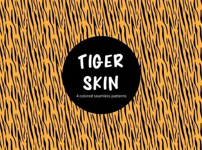 Tiger Skin Vector Free Seamless Pattern