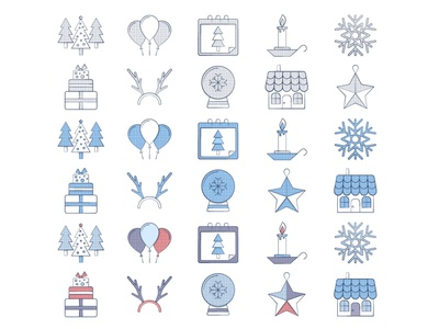 10 Free Christmas Icon christmas icons freevector typography vector graphics freebie free