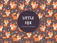 Little Fox Vector Free Seamless Pattern
