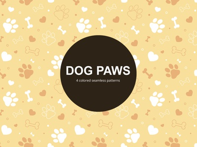 Dog Paws Vector Free Seamless Pattern