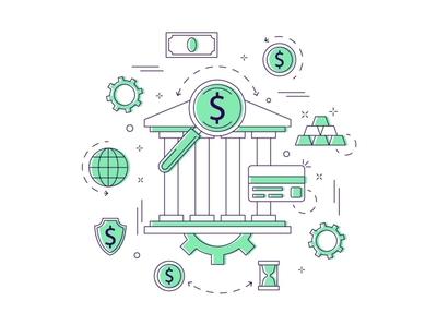 Banking Vector Free Illustration banking typography design illustration vector graphics freebie free