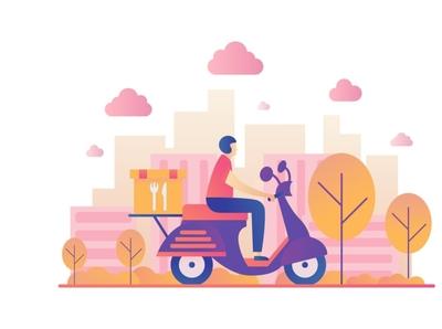 Food Delivery Vector Illustration design illustration vector graphics