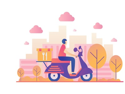Food Delivery Vector Illustration design illustration vector graphics