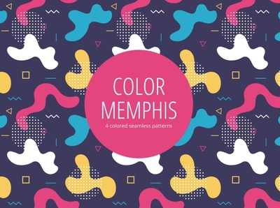Color Memphis Free Seamless Pattern typography pattern vector graphics freebie free