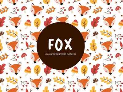 Fox Vector Free Seamless Pattern fox typography pattern vector graphics freebie free