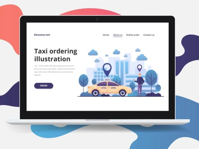 Taxi Order Vector Illustration ui design illustration typography vector graphics