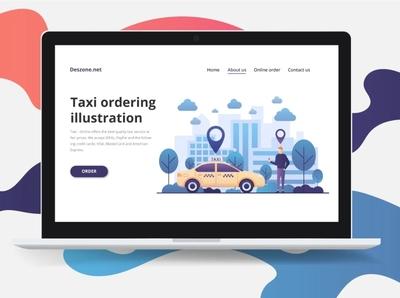 Taxi Order Vector Illustration ui design illustration typography vector graphics
