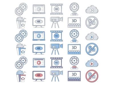 Free Movie Icon movie icons typography vector graphics freebie free
