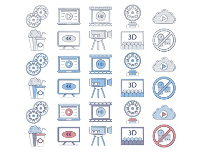 Free Movie Icon movie icons typography vector graphics freebie free