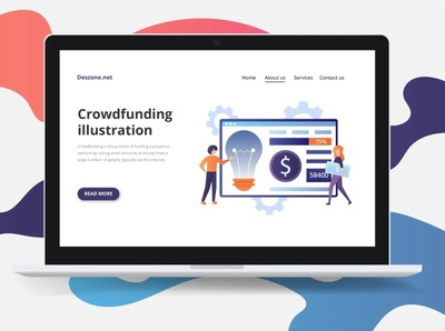 Crowdfunding Vector Illustration crowdfunding design illustration typography vector graphics