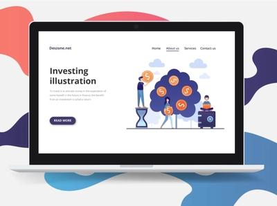 Investing Vector Free Illustration ui investing design illustration vector freebie free graphics