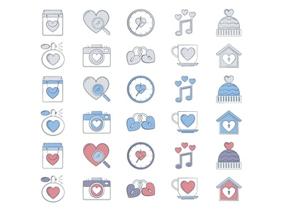 10 Free Valentine's Day Icon valentines day valentine day illustration icons vector freebie free graphics