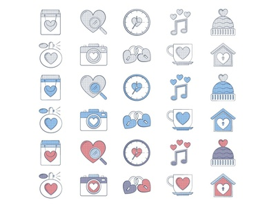 10 Free Valentine's Day Icon valentines day valentine day illustration icons vector freebie free graphics