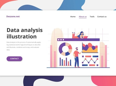 Data Analysis Vector Illustration ui typography illustration vector graphics