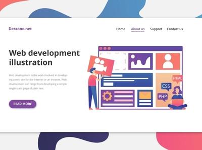 Web Development Vector Illustration ui design illustration typography vector graphics