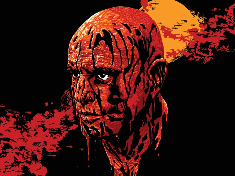 Apocalypse Now film poster movie poster screen print alt poster jack c gregory apocalypse now coppola sheen brando poster