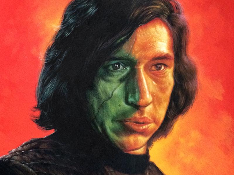 Kylo Ren the last jedi ben solo kylo ren star wars thelastjedi starwars jackcgregory painting bensolo kyloren