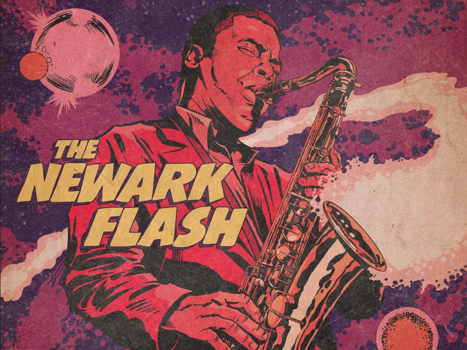 Wayne Shorter outer space galaxy universe space cosmos blue note records sax jazz newark flash wayne shorter design poster comics illustration jack c. gregory