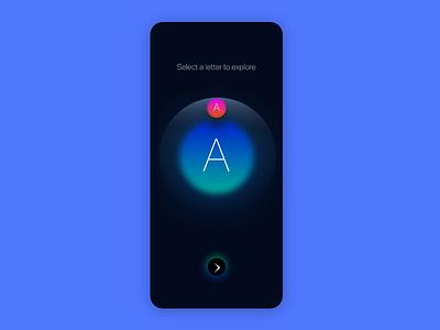 Letter origins Shot work in progress app ux ui alphabet