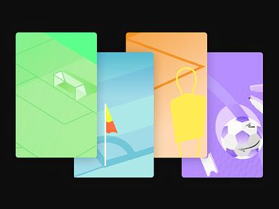 Sorare - Onboarding illustrations product branding vector illustration