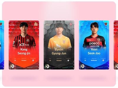 Sorare - Rookie Card Designs - 21/22 illustration ui branding design soccer cards football sports graphic design card card design
