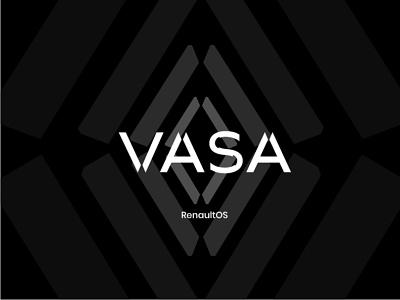 VASA - RenaultOS Logo - Concept automobile uidesign art direction product design logo branding