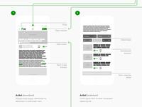 Wireframes flow iOS app