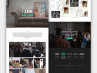 The Art Of Texture onepage design