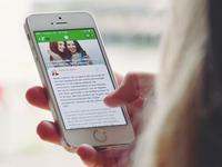 News/blog iOS app