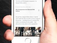 News article iOS