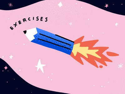 exercises illustration stars universe space rocket creativity illustration art illustrations creative mind class pencil illustration exercises