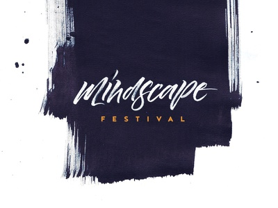 Mindscape Festival calligraphy logo bruhpen logo black mindscape strokes brush calligraphy festival logo