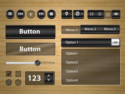 Black Chunky Ui Kit - Free psd psd free black chunky ui kit user interface