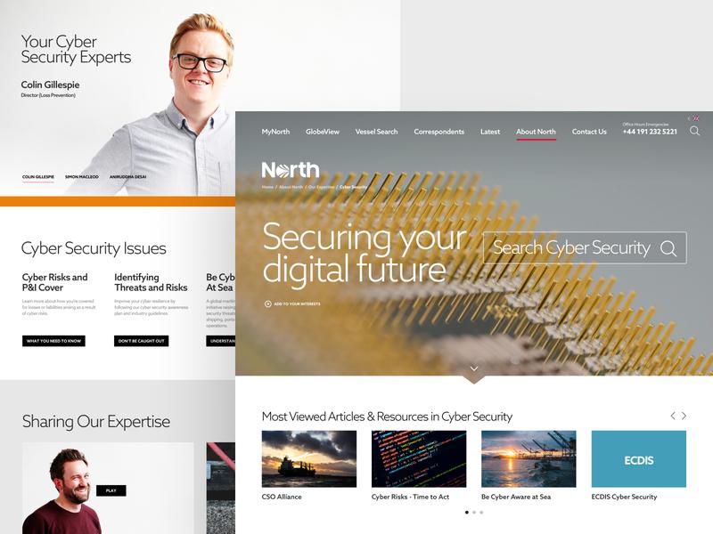 North web ux ui corporate search insurance expertise website desktop