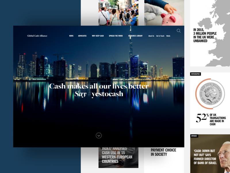 Yes to Cash ux ui infographics landing page corporate website desktop