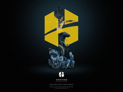 Horizon Collectibles - Brand Concept WIP fiction x-men tv movies comic shop store minimal entertaiment dark webdesign logo sideshow marvel superhero eshop figure statue collectible