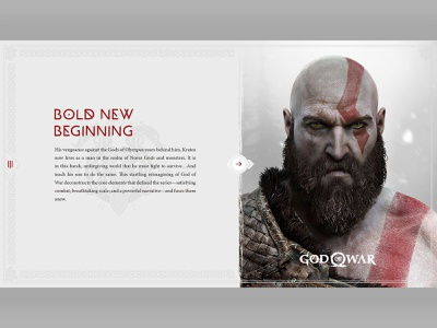 God Of War - study concept design god greek mythology norse playstation sony game design kratos light layout concept typogaphy symbols clean minimal ps4 god of war game gaming game art