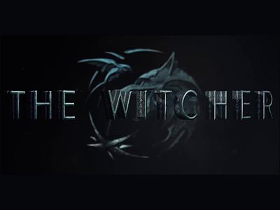 Making of Netflix The Witcher logo intro video timelapse netflix witcher branding animation design logo series tv movie experience dark