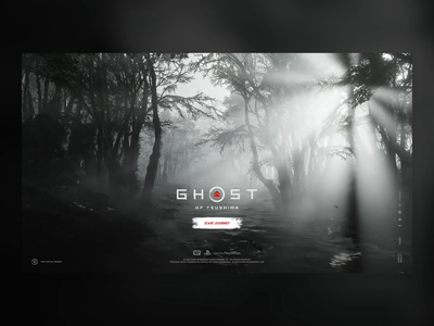 Ghost of Tsushima - Intro Screen Concept mood dark concept world forest immersive experience intro sony playstation ps4 gaming video game splash video asian japan tsushima ghost ghost of tsushima