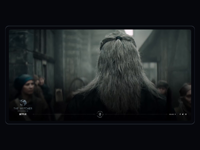 The Witcher: Netflix Interactive Experience web interactive movies tv series entertainment personal experiement experience dark intro video netflix witcher
