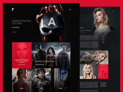 FinalCut - Online Movie Magazine ux movie magazine imdb film entertainment editorial captain america blockbuster