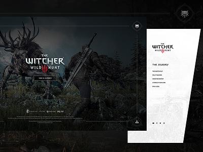 The Witcher 3 - Splash Screen & Navigation Menu menu video game witcher dark microsite web experience ux animation gaming game splash