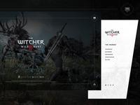 The Witcher 3 - Splash Screen & Navigation Menu