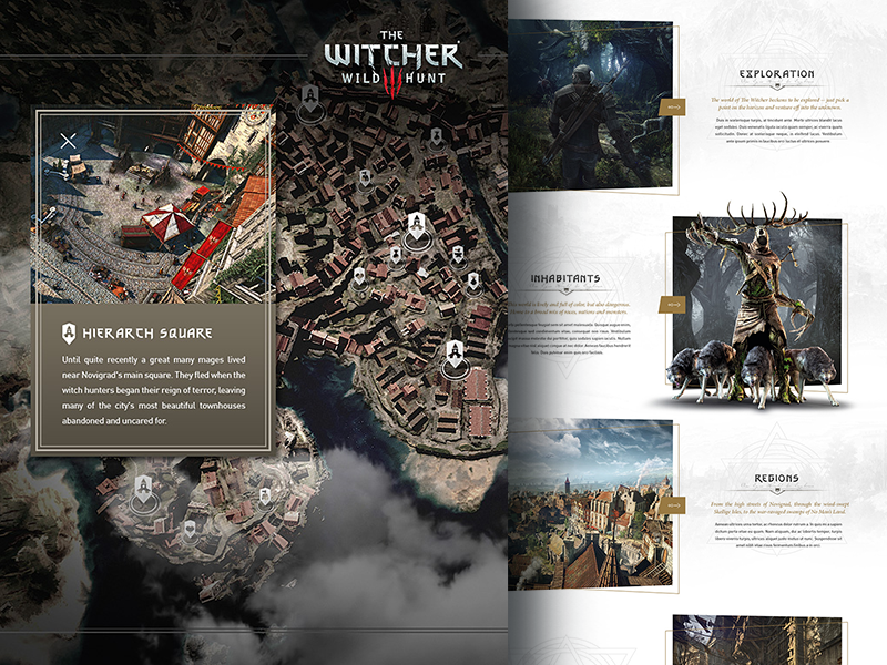 The Witcher 3 - Regions & Interactive World Map by Loris Stavrinides ...