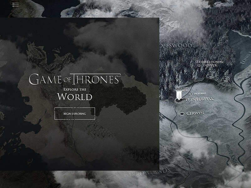 Interactive Map Game Of Thrones Viewer S Guide Experience By Loris
