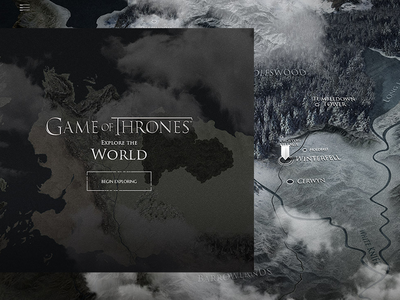 Interactive Map - Game of Thrones Viewer's Guide Experience explore world map interactive got game of thrones experience tv movie series dark full screen