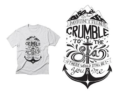 Thank you! calligraphy illustrator classic rock lyrics t-shirt