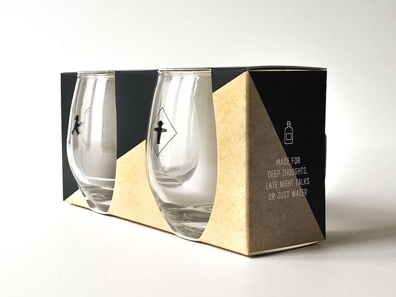 Drinking Glasses wording gift design drink glasses packaging graphic design labeling product design
