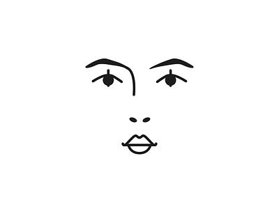 Face studies bw berlin monoline design graphic face